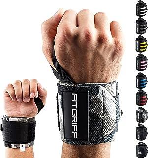 Fitgriff® Muñequeras Gym, Crossfit, Deportivas, Musculación, Gimnasio, Calistenia, Wrist Wraps - Mujeres y Hombres