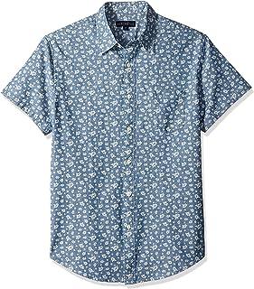 J.Crew Mercantile メンズ スリムフィット 半袖 プリントシャンブレーシャツ
