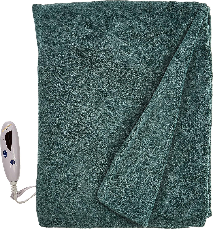 Biddeford Blankets 4460-9062119-601 Microplush Heated Throw, Prague Green