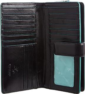 PRIME Hide Womans rosso//arancio piccola borsetta in pelle Portafoglio RFID Blocco Custodia TRIPLA