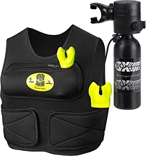 Spare Air Submersible Emergency Air Supply Package Set Scuba Diving Tank (1.7 Cu Ft with Vest - Black Package)