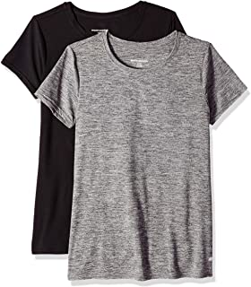 Amazon Essentials 2-Pack Tech Stretch Short-Sleeve Crewneck T-Shirt Mujer, Pack de 2
