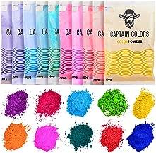 10 Colors x 100gram each - Holi Color Powder, 10 Natural Powders for Color Wars, Fun Runs, Summer Camps, Festivals, 5k Marathons, Gender Reveals, Parties, Fundraisers, and Rangoli - (100gram each)