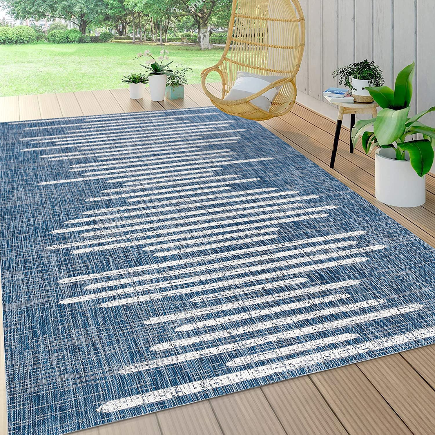 JONATHAN Y SMB124C-4 Zolak All items free shipping Berber Indoor Outdoo Stripe Selling rankings Geometric