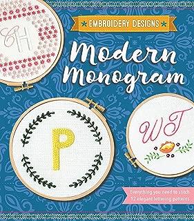 Modern Monogram (Embroidery Designs)