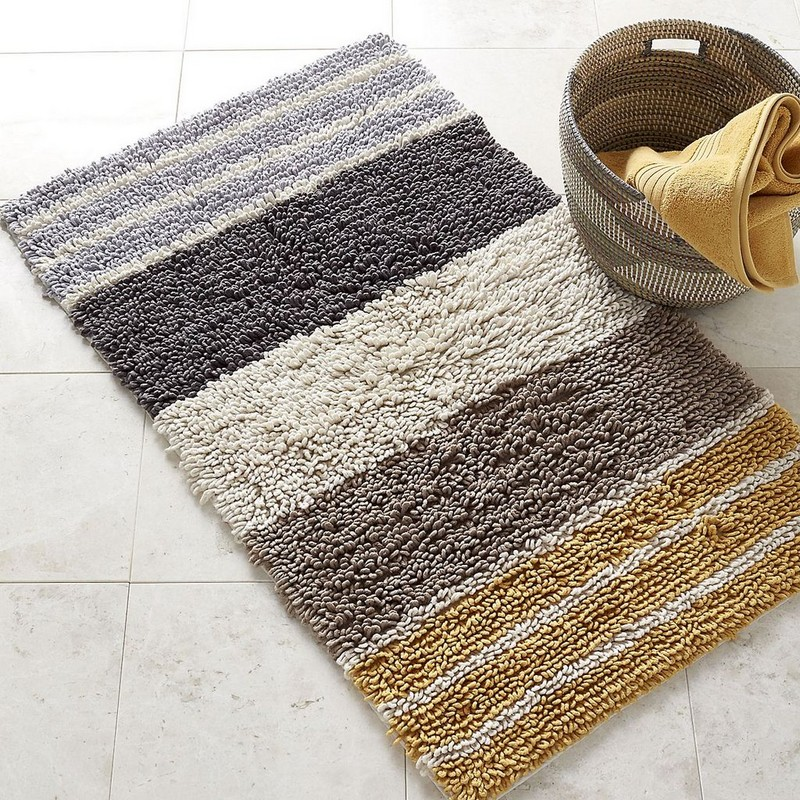 Chunky Loop Stripe Bath Rug - Marigold | The Company Store
