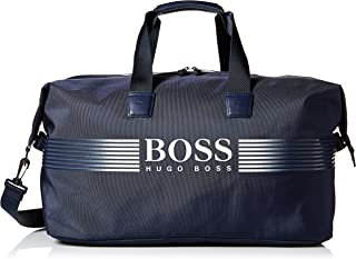 Hugo Boss Mens 50379382 Pixel Nylon Holdall Weekender Bag Duffel Bags