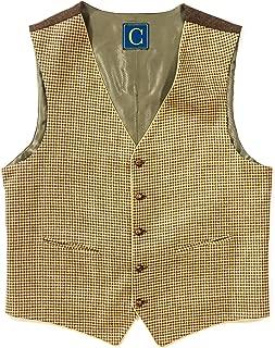 Deansgate Men's V-Neck Tailored Fit 5 Button Dress Casual Vest Waistcoat