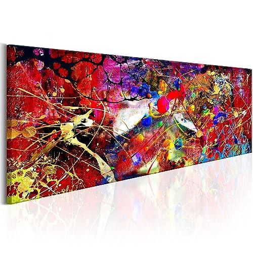 murando - Bilder 150x50 cm Vlies Leinwandbild 1 TLG Kunstdruck modern Wandbilder XXL Wanddekoration Design Wand Bild - Abstrakt Farbflecken bunt f-A-0482-b-b