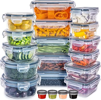 Fullstar Food Storage Containers with Lids - Plastic Containers with Lids Storage (20 Pack)