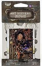 """Finnabair Decor Moulds 3.5""""X4.5""""-Art Nouveau"""