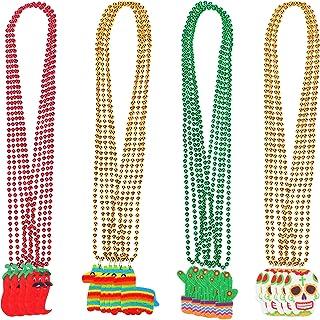 20 PCS Cinco de Mayo beaded necklace - Mexican Fiesta bachelorette Party Decorations Supplies Favor