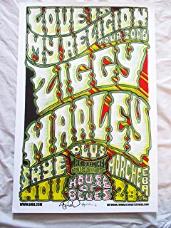 2006 Ziggy Marley House of Blues Concert Poster Autographed By Artist