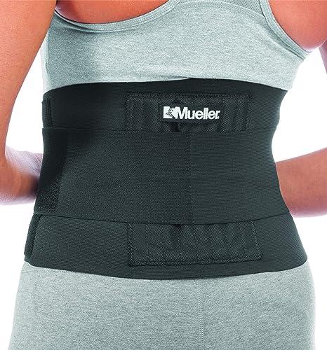 MUELLER Adjustable Back Brace, Black, One Size (6711)