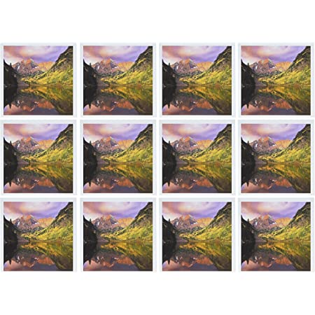 gc/_56127/_2 6 x 6 inches Greeting Cards set of 12 3dRose A Colorado Sunrise