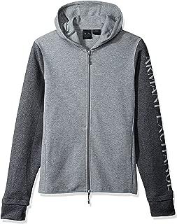 A|X Armani Exchange Men's Heathered Long Sleeve Logo'd Hoodie