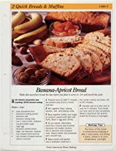 Great American Home Baking Recipe Card: 2 Quick Bread & Muffins - Card 5 Banana Apricot Bread (Replacement Page or Recipe Card For 3-Ring Binders)
