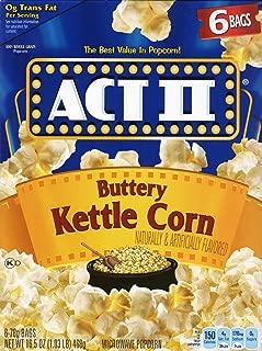 Kettle Corn - ACT II Buttery Kettle Corn - 6 Bags