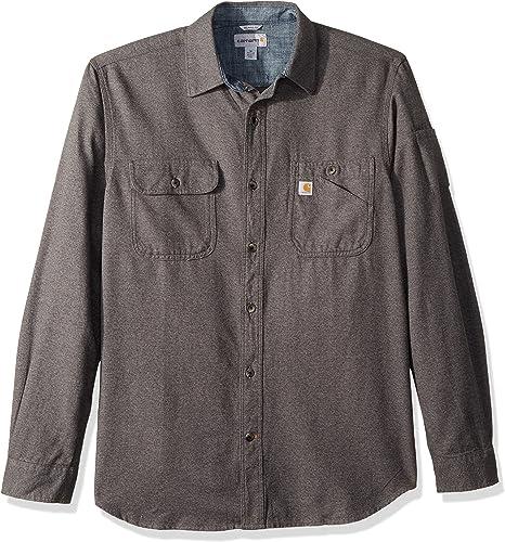 voiturehartt Hommes's Beartooth Solid manche longue Shirt, Granite Heather, petit