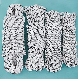 CasaXXl 20m Polypropylen Seil Ankerleine Bootsseil Tauwerk in schwarz-weiß - Robuste & wetterfeste Seile in verschiedenen Größen