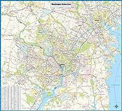 Washington DC Metro Area Laminated Wall Map