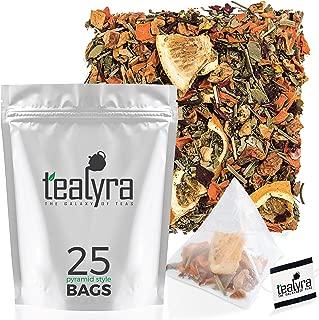 Tealyra - Orange Lemonade - 25 Bags - Hibiscus - Eucalyptus - Lemongrass - Herbal Fruity Loose Leaf Tea - Vitamins Rich - Boost Immune System - Caffeine-Free - Pyramids Style Sachets