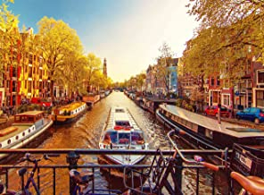 FKG Adult Jigsaw Puzzle Greenwich Village Jordaan Canal Amsterdam Holland 500-Pieces