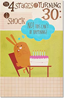 American Greetings Funny 30th Birthday Card (Four Stages)