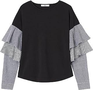UJUNAOR t Shirt Donna,T-Shirt Girocollo Donna Tinta Unita,Cotone Lavato Biancheria,Elegante Casual,Primavera-Estate 2019,S//M//L//XL//XXL//XXXL//XXXXL//XXXXXL