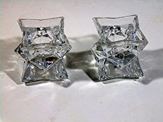Michael C. Fina Fifth Avenue 24% Lead Crystal Candle Holders