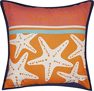 "Nautica Outdoor Decorative Pillow - Euro 20"" X 20"", Nautica Starfish"