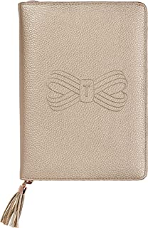 Ted Baker Faux Leather Dembossed Bow Folio, Rose Gold (ATED416)