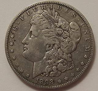 1893 O Morgan Silver Dollar Key Date $1 Extremely Fine