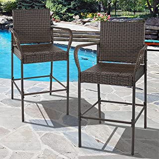 wicker counter chairs