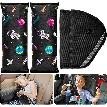 Coloranimal Sea Shark Seat Belt Covers 2Pack Car Seat Belt Cushion Pads for Kids Cute Seat Belt Shoulder Strap Cover