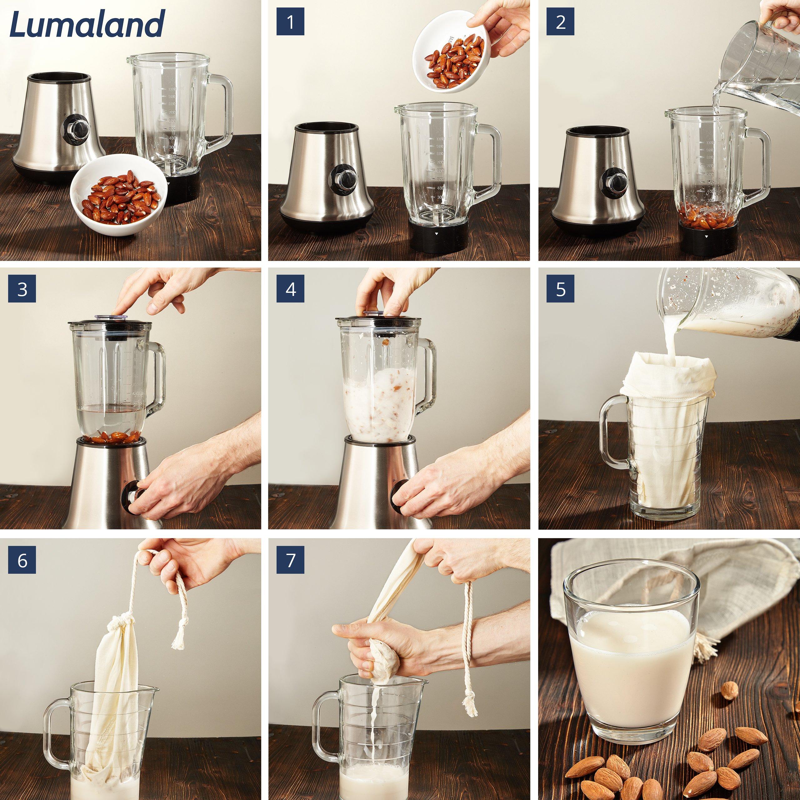 Compra Lumaland Cuisine bolsa filtro leche vegetal.Tejido natural ...