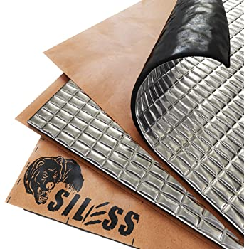 Siless 80 mil 5 sqft Car Sound Deadening mat - Butyl Automotive Sound Deadener - Noise Insulation and Vibration Dampening Material (80 mil 5 sqft)