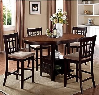 Best splendor espresso 5 piece counter height dining set Reviews