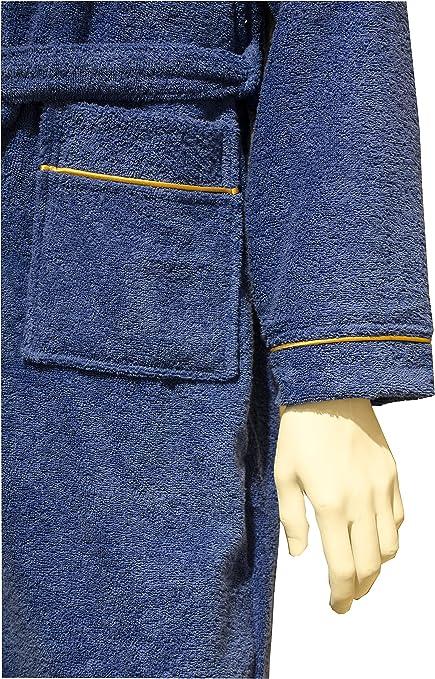 fabricado en exclusiva para suave pluma Albornoz suave confeccionado en rizo de algod/ón puro con capucha y 2 bolsillos laterales de rizo muy suave
