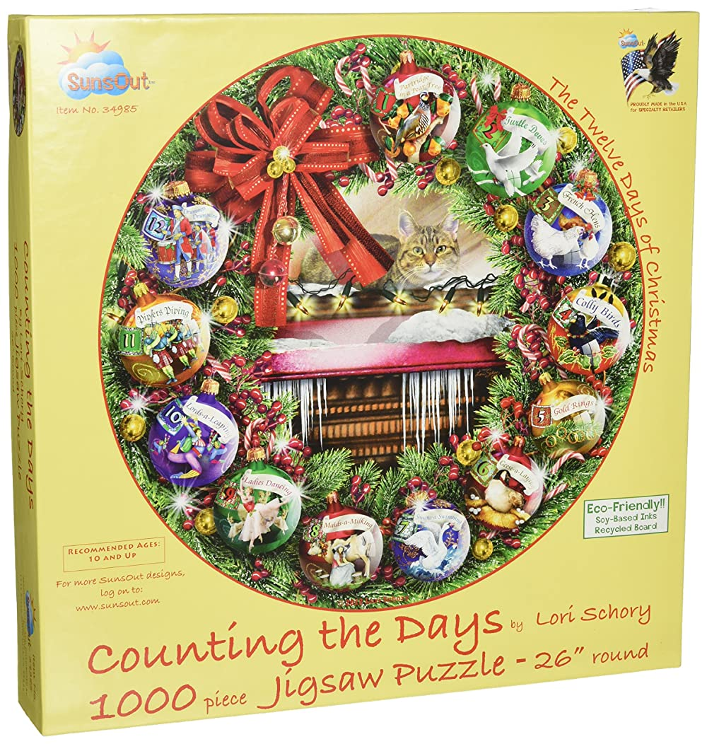 SunsOut Counting (12 Days of Christmas) 1000pc