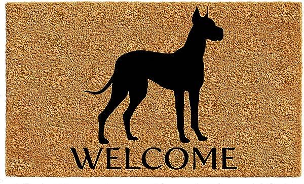 Calloway Mills AZ105601729 Great Dane Doormat 17 X 29 Natural Black
