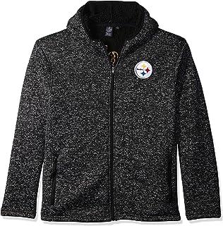 Ultra Game NFL Men`s Sherpa Lined Full Zip Fleece Hoodie Sweatshirt