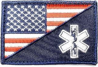 PakedDeals USA Flag EMS Nurse Medical Morale Patch Hook & Loop Gear Bag Tac Vest Police