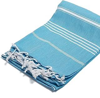 J & Ce 100% Cotton Turkish Peshtemal Towel Turquoise