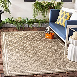 Safavieh Courtyard Collection CY6918-242 Brown and Bone Indoor/ Outdoor Area Rug (8' x 11')