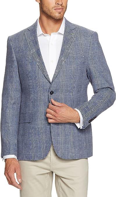 Oxford Men Lewis Leather Jacket, Black