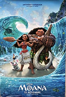 MOANA (2016) Original Authentic Movie Poster 27x40 - Dbl-Sided - FRENCH VERSION - FINAL - Dwayne Johnson - Alan Tudyk