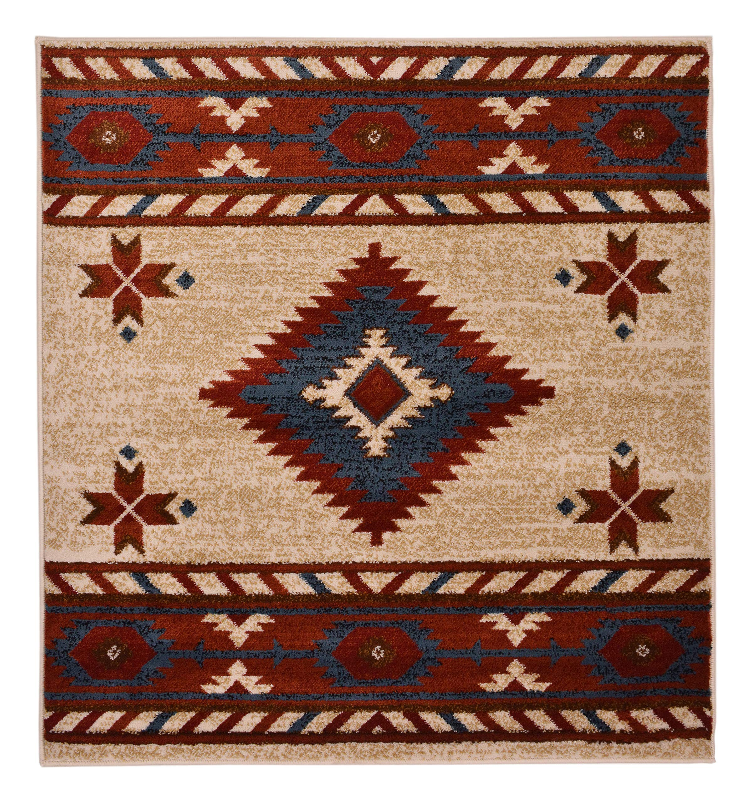 Southwest Rug Native American Style Rug Red Native American Style Rug Southwestern Rug Red Southwestern Rug Southwestern Area Rug