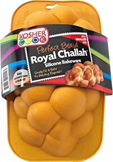 Silicone Braided Challah Pan - Small - Perfect Challah Bread Braid Baking Mold, No Shaping Required - Small - By The Kosher Cook