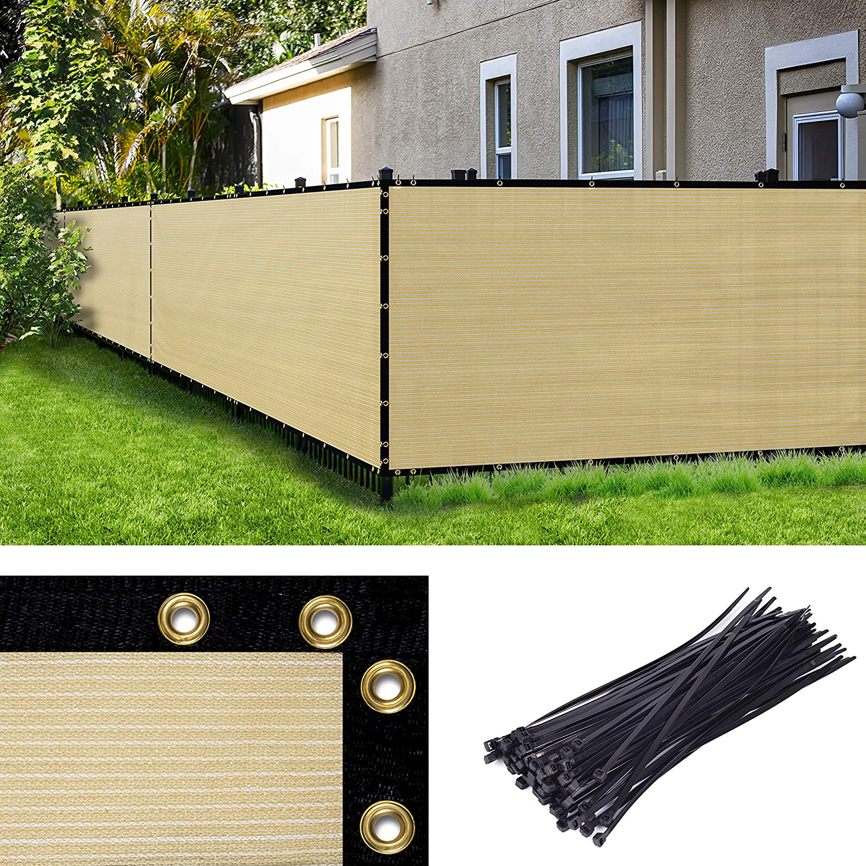 Amgo 超激安特価 Custom Made 4' 格安 x 20' Privacy Beige Fence Screen Size